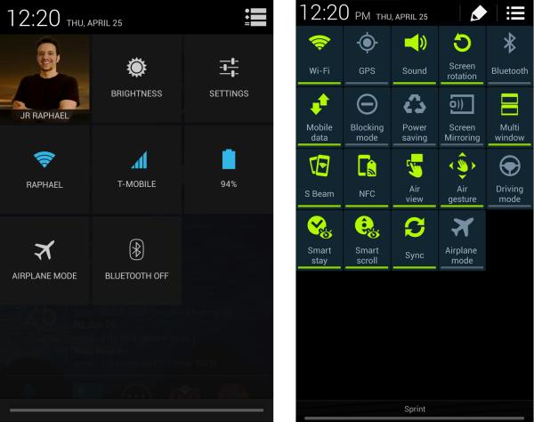 Google vs. Samsung UI design