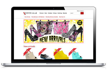 Shooz.co.uk website