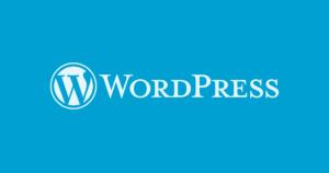 WordPress logo - blue background