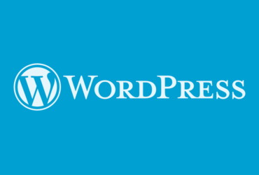 WordPress logo - blue background